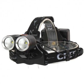 TaffLED Senter Headlamp LED CREE XPE T6 800 Lumens - R2 - Black - 3
