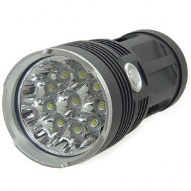 Lampu Senter Waterproof LED XM-L T6 4000 Lumens - Black