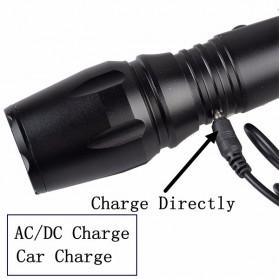 TaffLED Senter Tactical LED XM-L T6 2000 Lumens - S-002 - Black - 5
