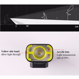 GACIRON Lampu Sepeda LED Cree XPG 400 Lumens - V9C - Black - 10