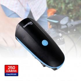 TaffLED Lampu Sepeda LED Cree XPG dengan Klakson - 7588 - Black - 13