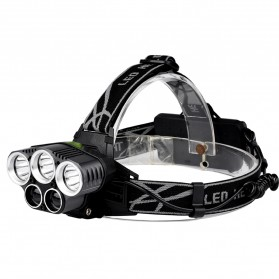 TaffLED Headlamp CreeXM-L 3T6 + 2XPE 10000 Lumens - BL229 - Black