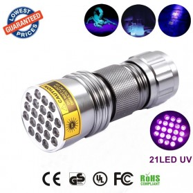 TaffLED Senter Ultraviolet 400nm 21 LED - UV-21 - Silver