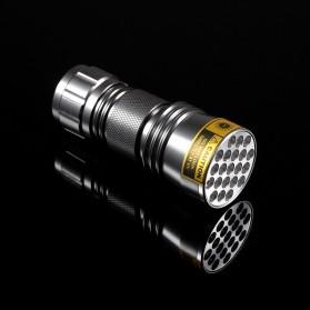 AloneFire Senter LED Mini Ultraviolet 400nm - Silver - 2