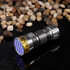 TaffLED Senter Ultraviolet 400nm 21 LED - UV-21 - Silver - 4