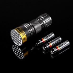 AloneFire Senter LED Mini Ultraviolet 400nm - Silver - 6