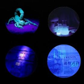 AloneFire Senter LED Mini Ultraviolet 400nm - Silver - 7