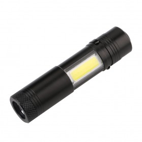 TaffLED Senter LED XPE + COB Outdoor Flashlight 800 Lumens - C02 - Black