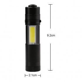 TaffLED Senter LED XPE + COB Outdoor Flashlight 800 Lumens - C02 - Black - 6