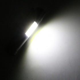 TaffLED Senter LED XPE + COB Outdoor Flashlight 800 Lumens - C02 - Black - 9