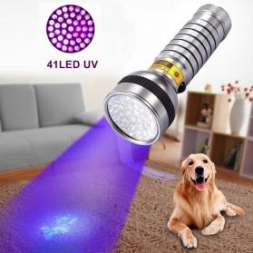 TaffLED Senter Ultraviolet UV 41 LED UV-41 - Silver