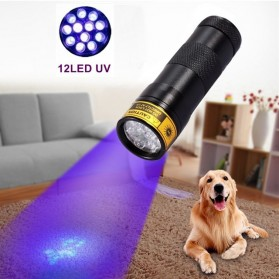 TaffLED Senter Ultraviolet  400nm 12 LED - UV-12 - Black