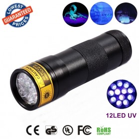 TaffLED Senter Ultraviolet  400nm 12 LED - UV-12 - Black - 2