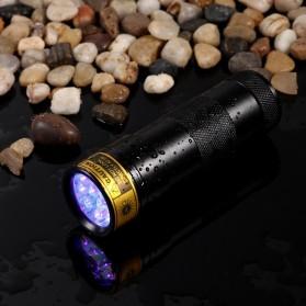 TaffLED Senter Ultraviolet  400nm 12 LED - UV-12 - Black - 3