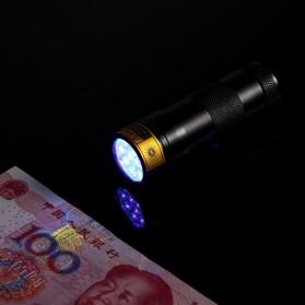 TaffLED Senter Ultraviolet  400nm 12 LED - UV-12 - Black - 4