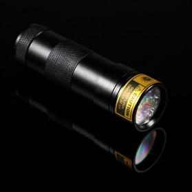TaffLED Senter Ultraviolet  400nm 12 LED - UV-12 - Black - 5