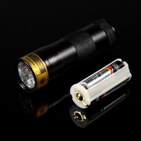 TaffLED Senter Ultraviolet  400nm 12 LED - UV-12 - Black - 7
