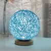 LED Lampu Hias Kayu Rotan - Blue