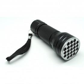 TaffLED Senter LED Ultraviolet UV 400nm 21 LED - C0197 - Black - 1