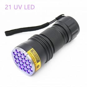 TaffLED Senter LED Ultraviolet UV 400nm 21 LED - C0197 - Black - 4
