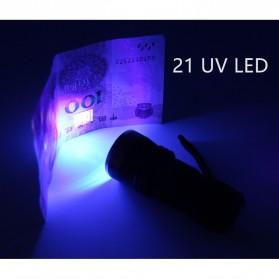 TaffLED Senter LED Ultraviolet UV 400nm 21 LED - C0197 - Black - 7