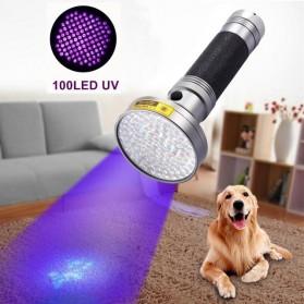 Senter LED Ultraviolet UV 400nm 100 LED - UV100 - Gray