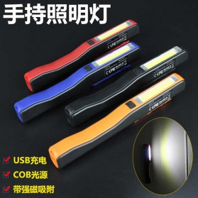 TaffLED Senter Pena Mini LED 3W + 1W USB Rechargeable - BC11 - Black - 2