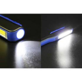 TaffLED Senter Pena Mini LED 3W + 1W USB Rechargeable - BC11 - Black - 3