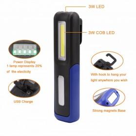 TaffLED Senter LED Camping USB Rechargerable Magnetic COB+XPE - ZM-LJ-145 - Black - 5