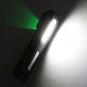 TaffLED Senter LED Camping USB Rechargerable Magnetic COB+XPE - ZM-LJ-145 - Black - 9