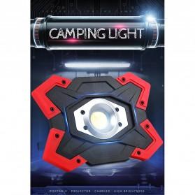 TaffLED Senter LED Lantera Camping COB 1200 Lumens 15W + Power Bank 6600mAh - ZF6006 - Red - 4