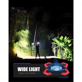 TaffLED Senter LED Lantera Camping COB 1200 Lumens 15W + Power Bank 6600mAh - ZF6006 - Red - 5