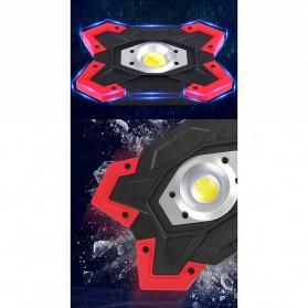 TaffLED Senter LED Lantera Camping COB 1200 Lumens 15W + Power Bank 6600mAh - ZF6006 - Red - 9