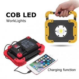 TaffLED Senter LED Lantera Camping COB 750 Lumens 10W + Powerbank 4400mAh - Ll 810 - Yellow - 2