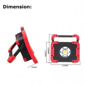 TaffLED Senter LED Lantera Camping COB 750 Lumens 10W + Powerbank 4400mAh - Ll 810 - Yellow - 4