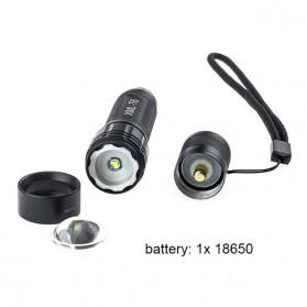 TaffLED Mini Telescopic Focus Cree XML-T6 3500 Lumens - TM120 - Black - 7