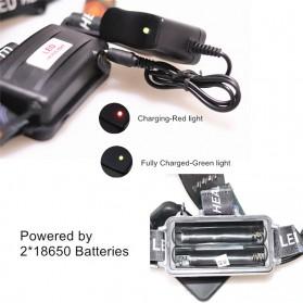 TaffLED  Senter Headlamp Cree XM-L 3T6 15000 Lumens - IHT425H1 - Black - 3