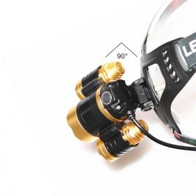 TaffLED  Senter Headlamp Cree XM-L 3T6 15000 Lumens - IHT425H1 - Black - 4