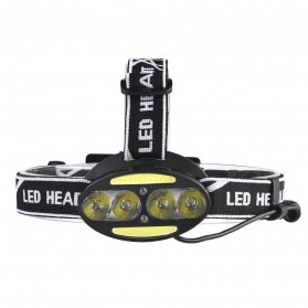 TaffLED Headlamp Cree 4x XML T6 + 2x COB 30000 Lumens Flashlight - 2504A - Black - 6