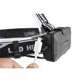 TaffLED Headlamp Cree 4x XML T6 + 2x COB 30000 Lumens Flashlight - 2504A - Black - 10