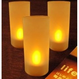 LED Tealight with Holder - AA-CD10,LXL282H - White - 1
