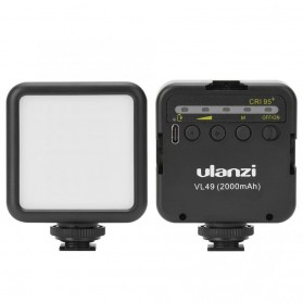 Ulanzi Fill Light LED Lampu Kamera Video Mini 6W 5500K 2000mAh Battery - VL49 - Black