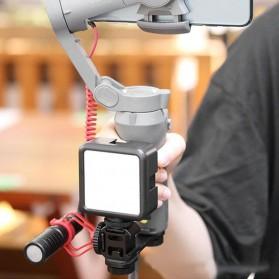 Ulanzi Fill Light LED Lampu Kamera Video Mini 6W 5500K 2000mAh Battery - VL49 - Black - 2
