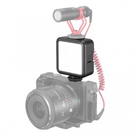 Ulanzi Fill Light LED Lampu Kamera Video Mini 6W 5500K 2000mAh Battery - VL49 - Black - 3