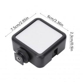 Ulanzi Fill Light LED Lampu Kamera Video Mini 6W 5500K 2000mAh Battery - VL49 - Black - 6