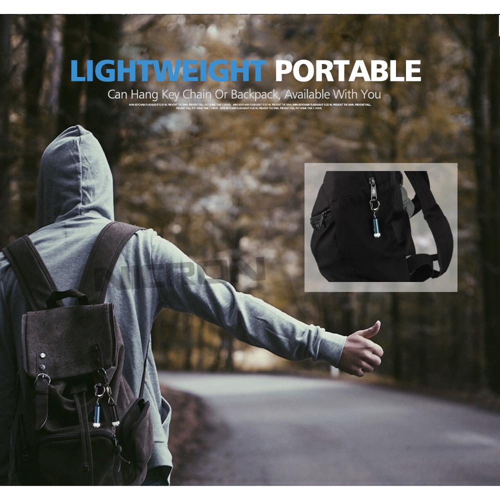 Nicron Senter Led Keychain 025w 10 Lumens G10a Black 002 4