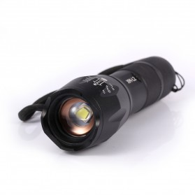 TaffLED Tactical Flashlight Cree XM-L2 2000 Lumens - E17 - Black - 2
