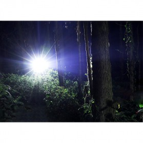 TaffLED Tactical Flashlight Cree XM-L2 2000 Lumens - E17 - Black - 7