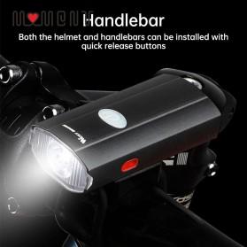 WEST BIKING Lampu Sepeda LED Rechargeable 300 Lumens - B1 - Black - 2