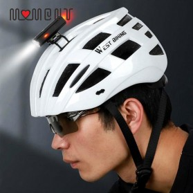 WEST BIKING Lampu Sepeda LED Rechargeable 300 Lumens - B1 - Black - 3